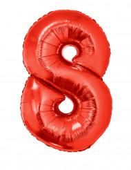 Siffran 8 - Röd aluminiumballong till festen 102
