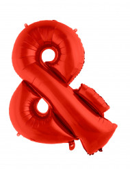 Symbolen & - Jätteballong i rött 102 cm