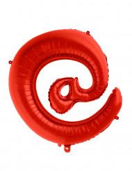 Symbolen snabel-a - Jätteballong i rött 70 cm