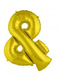 Symbolen & - Jätteballong i guld 80 cm