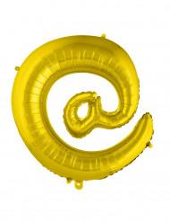 Symbolen snabl-a - Jätteballong i guld 70 cm