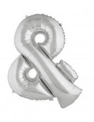 Symbolen & - Jätteballong i silver 80 cm