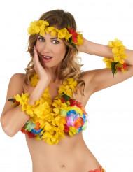 Gult Hawaii-set för vuxna