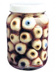 Läskiga konserverade ögon på burk - Halloween pynt
