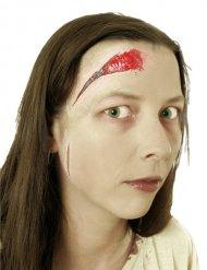 Fejk sår med dragkedja - Halloween sminkning