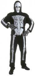 Skelettoverall för barn till Halloweenfesten