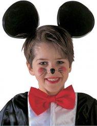 Svart diadem med musöron för barn