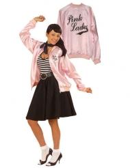 Rockabilly jacka i rosa - Dräkt för vuxna till maskeraden