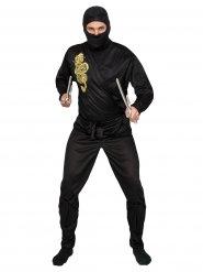 Golden Dragon - Ninjadräkt för vuxna till maskeraden