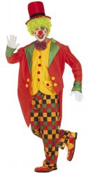 Rutig Clown - Maskeradkläder för vuxna
