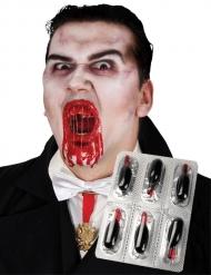 6 kapslar med fuskblod till Halloween