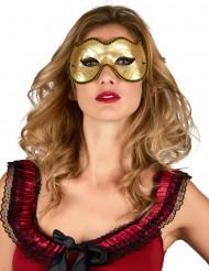 Venetiansk ögonmask i guld för vuxna