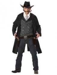 Fräck cowboy i svart - Maskeraddräkt för vuxna