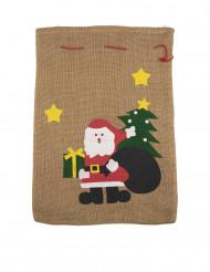 Jultomtens säck med julmotiv 50 x 35 cm