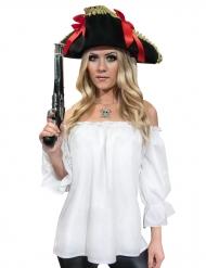 Piratskjorta i vitt för vuxna till maskeraden