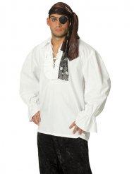 Vit piratskjorta för vuxna