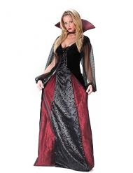 Flott vampyrdam - Halloweenkostym för vuxna