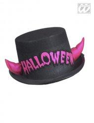 Svart hatt med Halloweenhorn