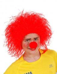 Röd clown - Peruk för barn till kalaset