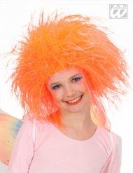Vild orange barnperuk