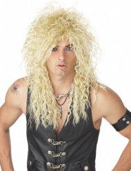 Blond 80-tals rockarperuk vuxen