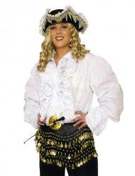 Piratskjorta med volanger till maskeraden