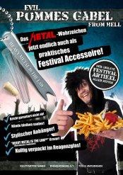 Heavy gaffel för pommes på festival