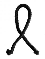 Fläta med artificiellt hår i svart