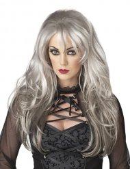 Baronessa - Peruk med långt grått hår till maskeraden