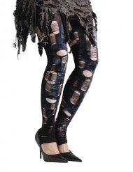 Rockiga leggings med hål - Maskeradtillbehör