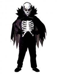 Skelettdäkt med mantel för barn till Halloween