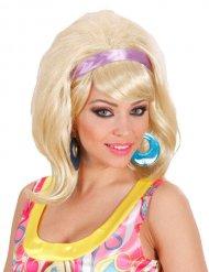 Blond 60-talsperuk med lila hårband dam