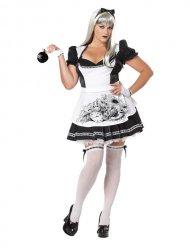 Alice noir - Maskeraddräkt för större vuxna