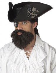 Brunt piratskägg herr
