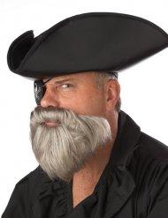 Gråskägg - Piratskägg för vuxna till maskraden