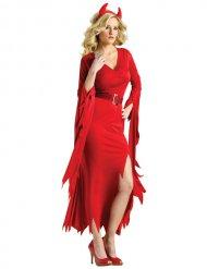 Elegant röd djävul damdräkt