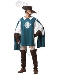Den blå musketören - Maskeraddräkt för vuxna