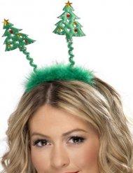 Grönt diadem med julgranar