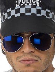 Blå polisglasögon vuxen