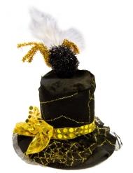 Svartgul hatt med spindel vuxen
