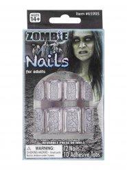 Zombienaglar - Halloweensminkning