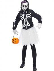 Tutu skelettmaskeraddräkt för damer - Halloween Maskeraddräkter för vuxna