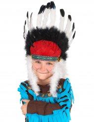 Hövdingens huvudbonad - Indiantillbehör för barn till kalaset