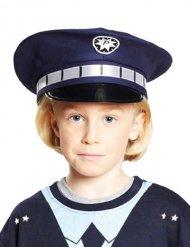 Blå polishatt barn