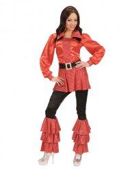 Kaxig discodam i tunika - Maskeradkläder för vuxna