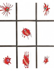 12 köttslamsor stickers - Halloween tillbehör