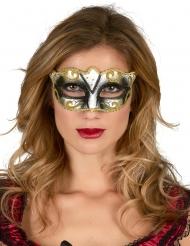 Venetiansk ögonmask för vuxna med gyllene detaljer