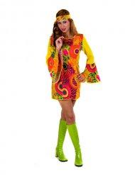 Färgstorm - Hippiedräkt för vuxna till maskeraden