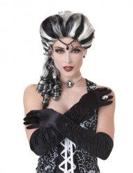 Vit och svart barock håruppsättning - Peruk för vuxna till Halloween