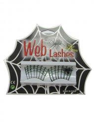 Lösögonfransar med spindelväv